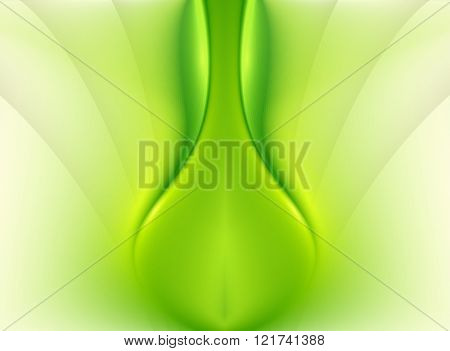 Green abstract background with soft, smooth lines