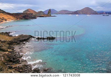 Coastline Of Bartolome Island, Galapagos National Park, Ecuador.