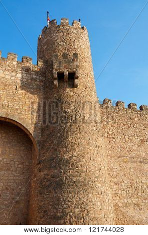 Castle of Siguenza, of Arab origin was built in the 12th century is now Parador Nacional de Turismo, Guadalajara, Castilla La Mancha, Spain