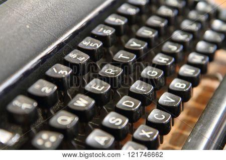 Selective focus to old Typewriter