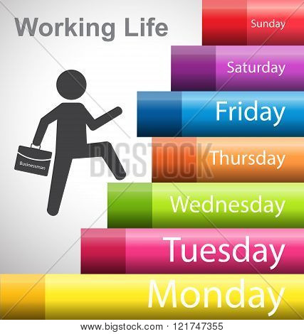 Working Life By Business Man