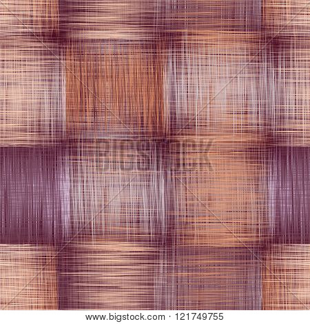 Checkered Grunge Striped Seamless Pattern In Violet, Beige,white Colors For Web Design