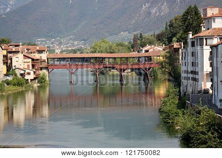 Bassano del Grappa town in northern Italy.