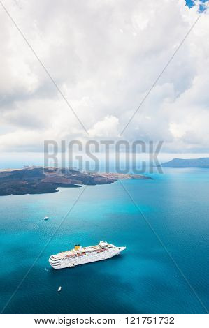 Cruise Ship At Sea.