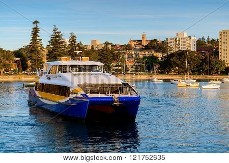 Manly Fast Ferry Boat In Sydney