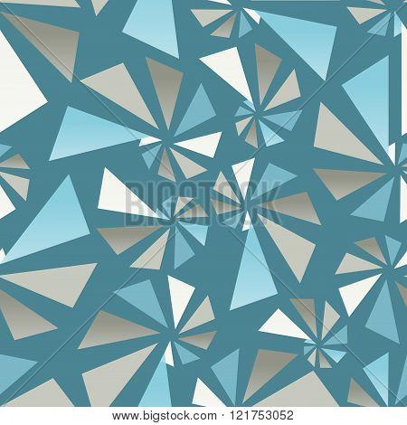 Triangular torsion seamless pattern