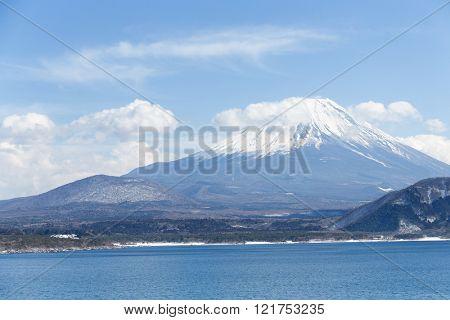 Lake Motosu and Fujisan