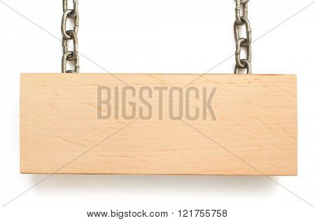 hanging signboard isolated on white background