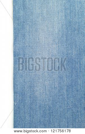 blue jeans texture isolated on white background