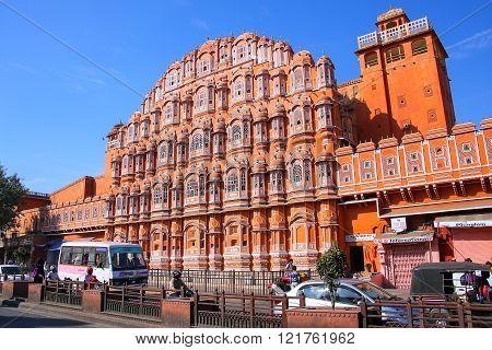 Jaipur, India - November 14: Hawa Mahal - Palace Of The Winds On November 14, 2014  In Jaipur, India