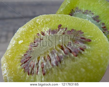 Green Slices Of Dried Kiwi