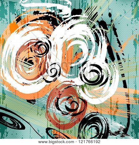 Beautiful Graffiti Grunge Texture Abstract Background Vector Illustration