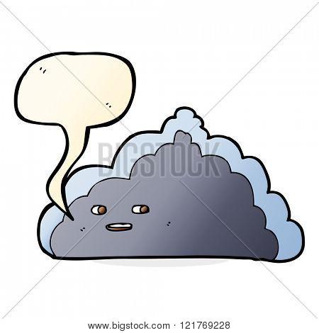 cartoon cloud with speech bubble