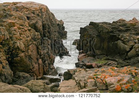 Rocky inlet in aberdeen north east scotland