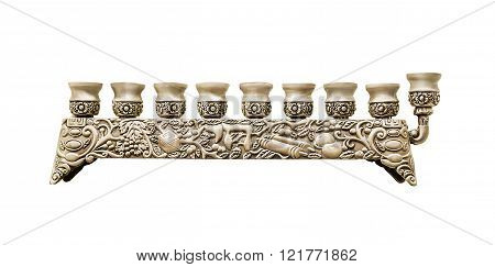 Menorah, Candle Holder For Holiday Hanukkah