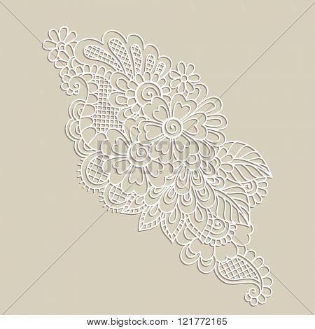Doodle Vector Illustration Design Element. Flower Ornament.
