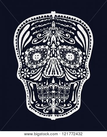 Sugar skull. Vector illustration