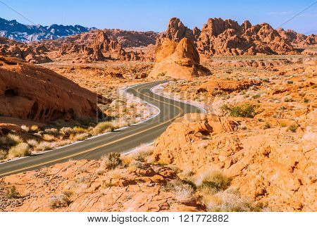 Dawn In The Valley Of Fire, Nevada, Usa