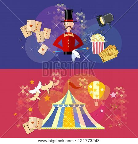 Circus Performance Banner Magic Show Circus Tent