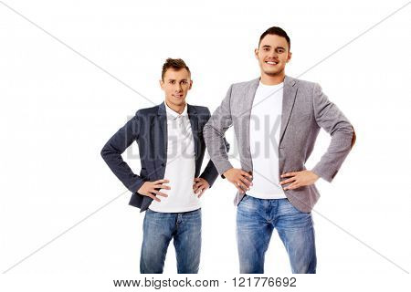 Two smile young business men