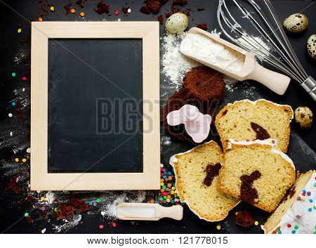 Cooking Traditional Easter Biscuits Background