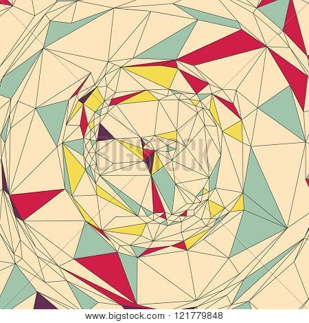 Mosaic. Abstract Background. Polygonal Vector Illustration.