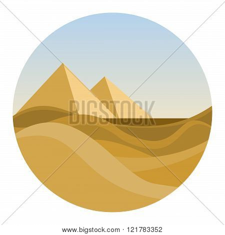 Round Location With Egyptian Desert