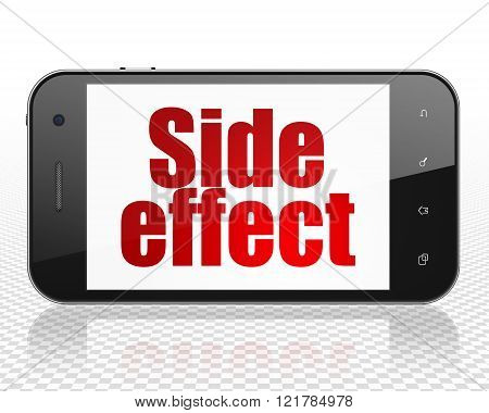 Health concept: Smartphone with Side Effect on display