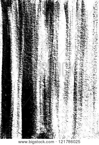 Grunge Texture. Weathered Messy Background. Black And White. Vector.