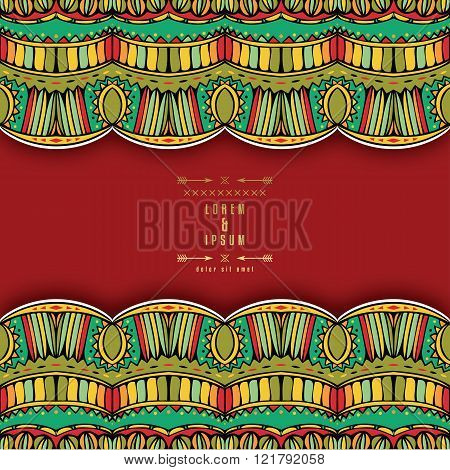 Ornate Ethnic Background