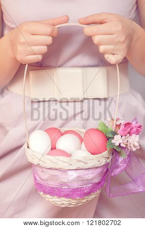 Easter Egg in basket