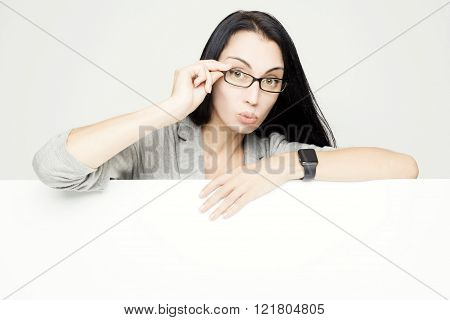 Business woman thumb up. Successful and confident businesswoman concept.