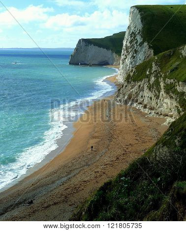 The Dorset Coast near Durdle Door,
