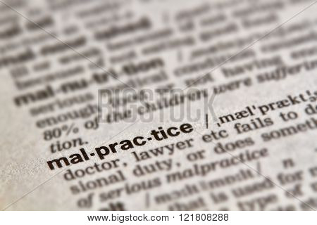 Malpractice Word Definition Text