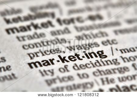 Marketing Word Definition Text
