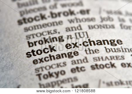 Stock Exchange Word Definition Text