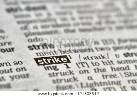 Strike Word Definition Text