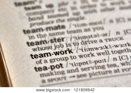 Teamwork Word Definition Text