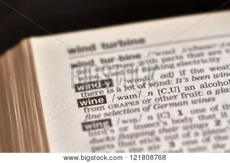 Wine Word Definition Text