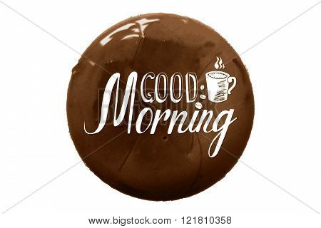 Good Morning Inscription And Cup Of Coffee
