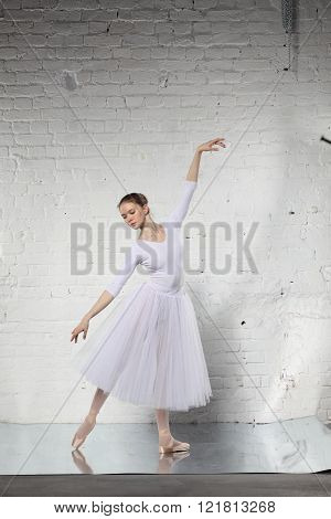 Ballerina in white