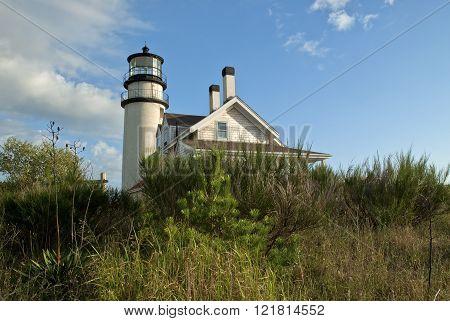 Sun Illuminates Highland Lighthouse On Cape Cod