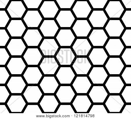 Vector modern seamless geometry pattern hexagon black and white honeycomb abstract