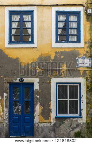 Facade In Merchants Street (rua Dos Mercadores) In Aveiro
