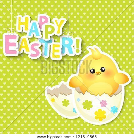 Happy Easter Greeting Card. Vector.