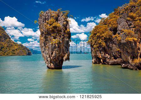 James Bond Island in Phang Nga Bay Thailand ** Note: Visible grain at 100%, best at smaller sizes