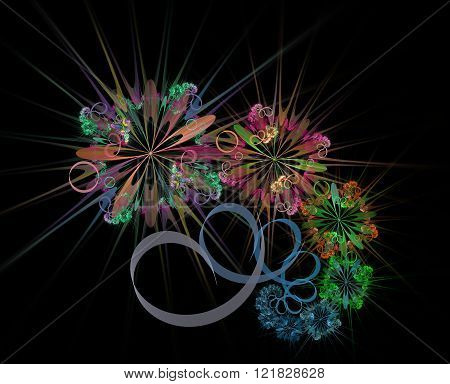 Spark multicolor bouquet