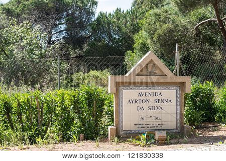 Ayrton Senna Avenue In Quinta Do Lago, Algarve