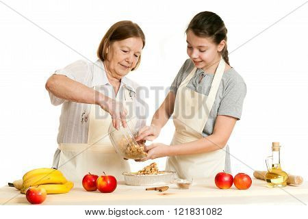 The Grandmother And The Granddaughter Stack A Stuffing