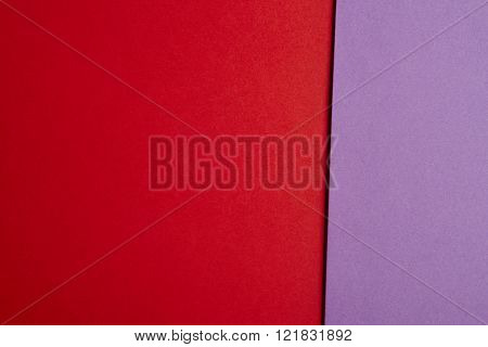 Colored Cardboards Background In Red Purple Tone. Copy Space.